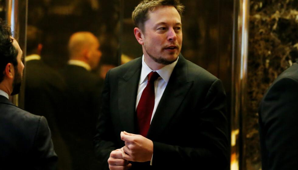 SKREMT: Toppsjef for Tesla, Elon Musk, advarer mot kunstig intelligens. Foto: REUTERS/Shannon Stapleton/File Photo