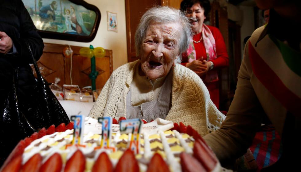 DØDE: Verdens eldste persone, Emma Morano, døde lørdag. Hun ble 117 år gammel. Foto: Reuters / NTB Scanpix