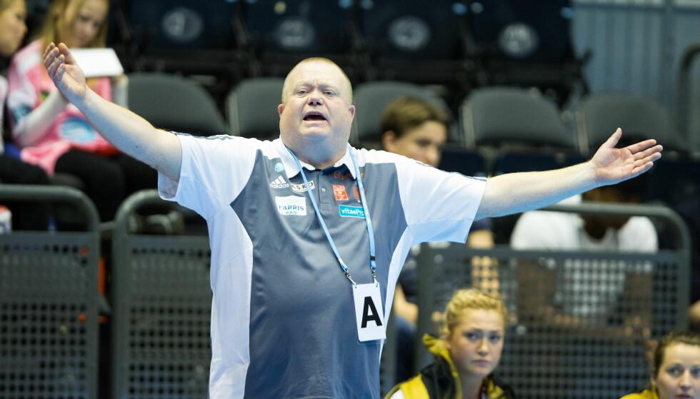 TAPTE: Larviks og trener Tor Odvar Moen. Foto: Audun Braastad / NTB Scanpix