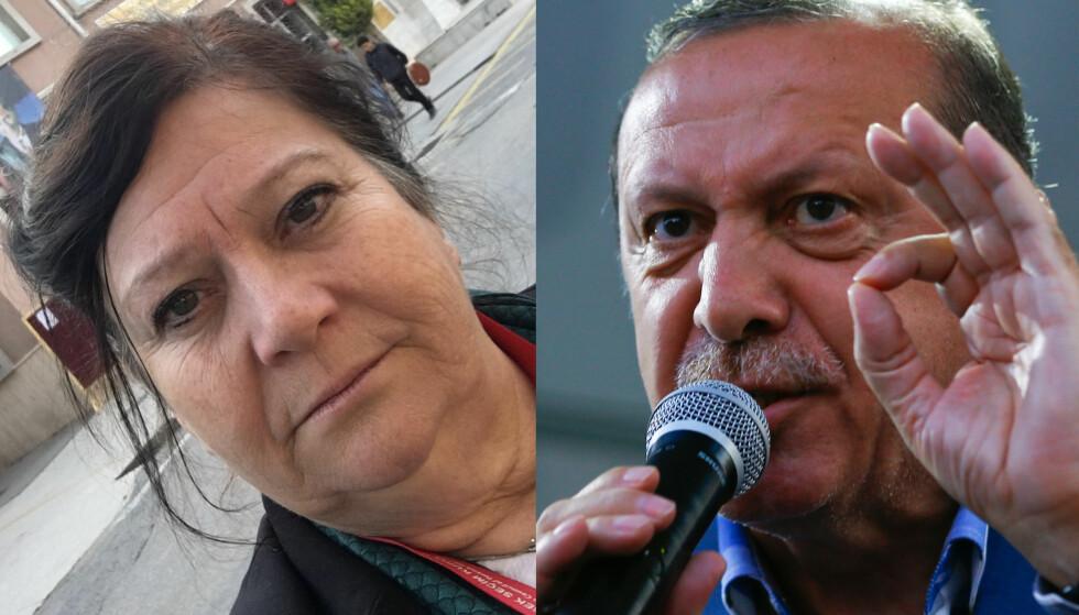 IKKE FULLT SÅ PRIMA: President Recep Tayyip Erdogan og ja-sida vant valget i Tyrkia, men valgobservatørene, med Ingebjørg Godskesen (Frp), er ikke akkurat imponerte over hvordan valget er blitt gjennomført. Foto: Privat / NTB Snanpix