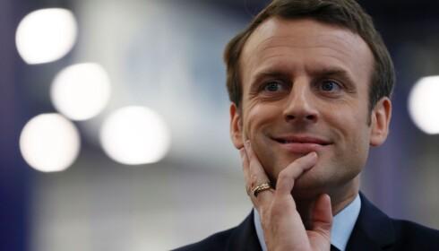 SJARMØR: I motsetning til president Francois Hollande, har Emmanuel Macron enorm sjarm, og er langt kjappere og morsommere i replikken. Foto: NTB Scanpix