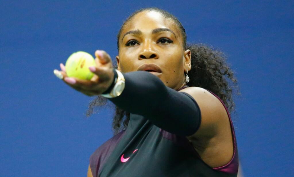 VENTER BARN: Serena Williams (35) venter barn med «Reddit»-grunnlegger Alexis Ohanian (33). Det avslørte hun for en hel verden med et feiltrykk på Snapchat. Foto: Kena Betancun / NTB Scanpix