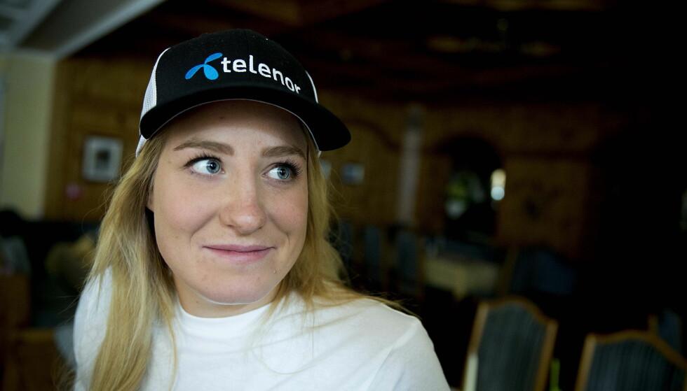 FERDIG SOM ALPINIST:    Lotte Smiseth Sejersted legger opp. Foto: Bjørn Langsem / DAGBLADET