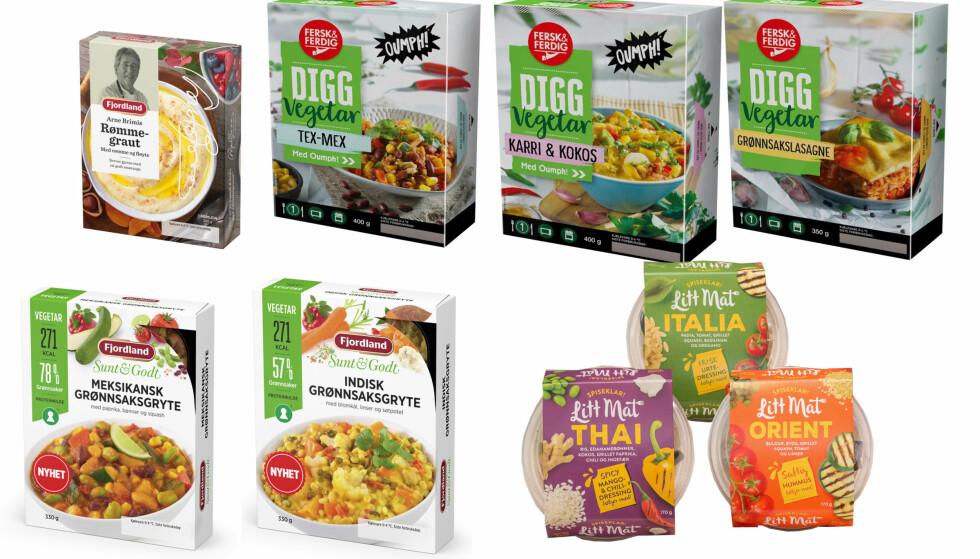 VEGETAR: Her er noen av ferdigmatnyhetene som ventes i butikk i neste uke for deg som vil kutte eller kutte ut kjøtt fra kostholdet.