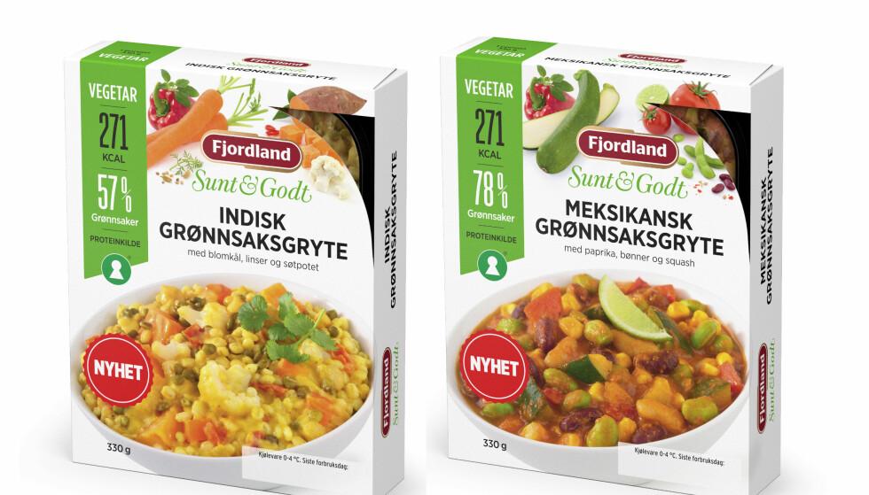 GRØNNE: Sunne, lette og vegetariske alternativer i ferdigmatdisken.
