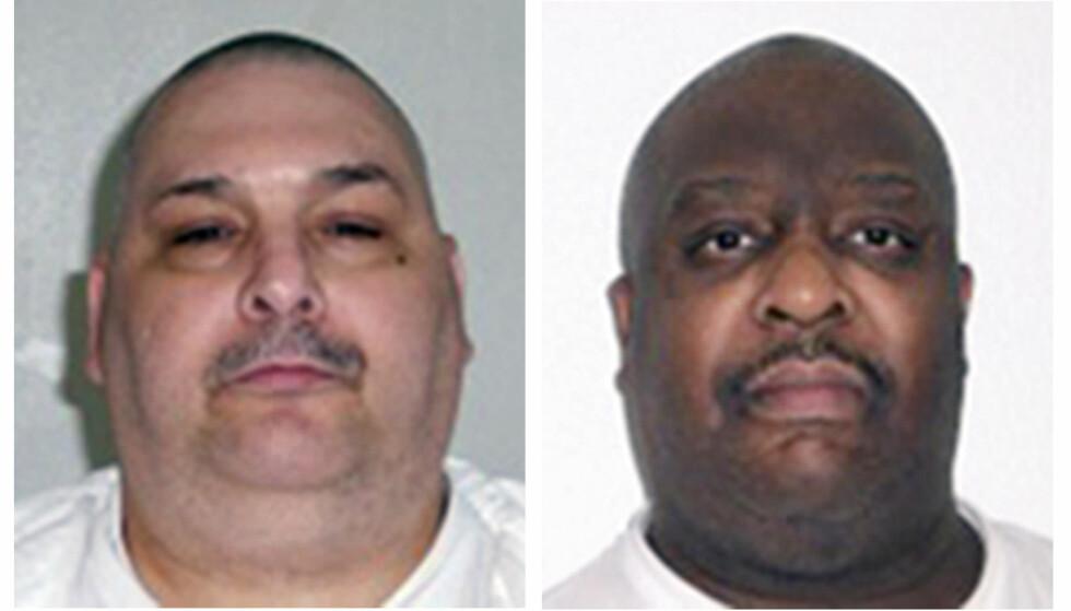 HENRETTET: Drapsdømte Jack Jones (t.v.) og Marcel Williams ble henrettet natt til tirsdag norsk tid i Arkansas. Foto: Arkansas Department of Correction via AP, File