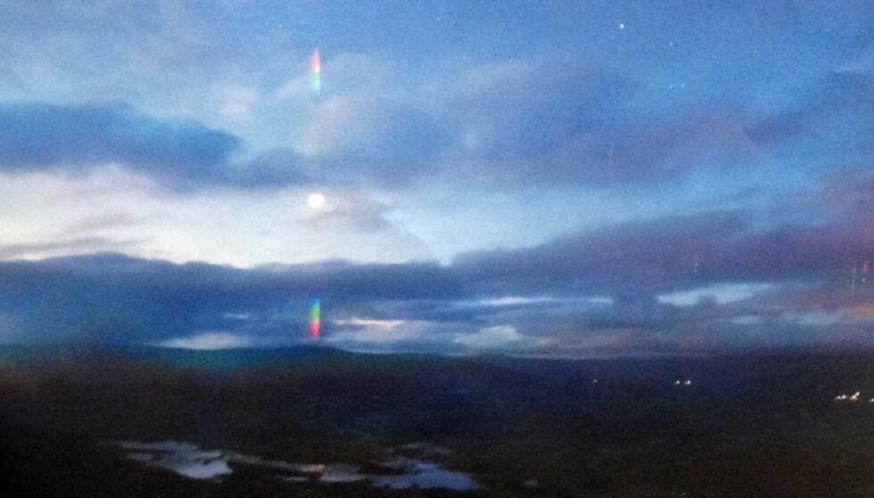 FENOMEN: - I 2016 tok vi et nytt bilde av fenomenet på samme sted og samme tid, og det samme gjorde vi i vinter. Da har vi funnet et sted hvor dette fenomenet kanskje oppstår, sier Bjørn Gitle Hauge. Foto: Høgskolen i Østfold