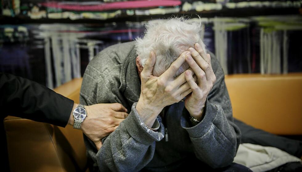 ELDST: Norges eldste fange heter Oddbjørn og er 82 år. Han er dømt til 13 år og seks måneder i fengsel for drap på kona. Han soner i Halden fengsel. Foto: Nina Hansen