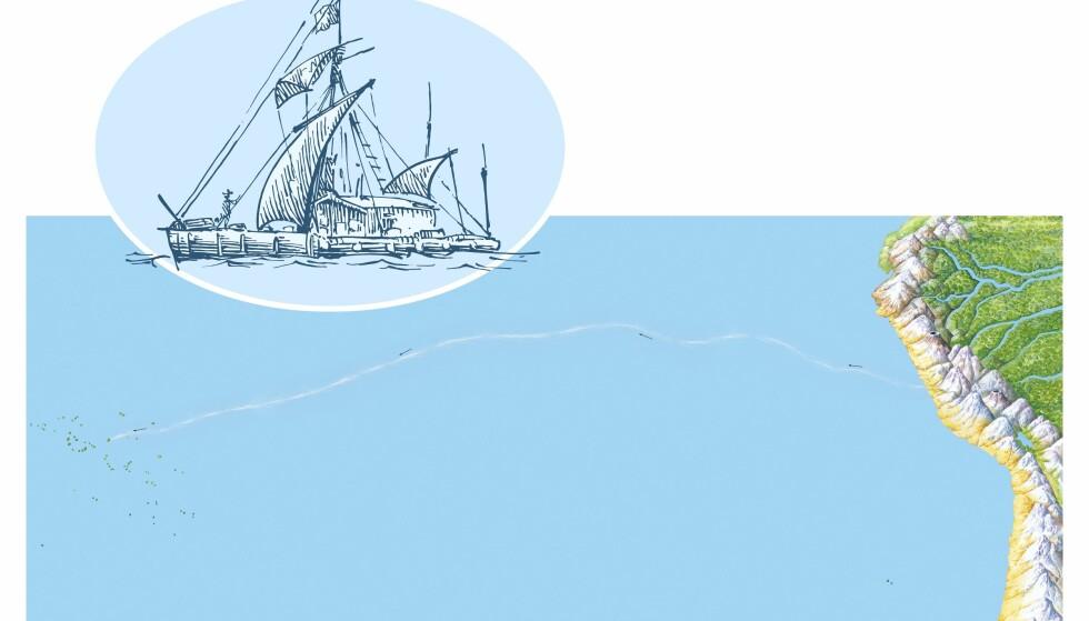 8000 KILOMETER: «Kon-Tiki»-ekspedisjonen tilbakela 8000 kilometer og tok 101 dager. 7. august 1947 strandet balsaflåten på Raroiarevet i Fransk Polynesia. Grafikk: Science Photo Library / NTB Scanpix
