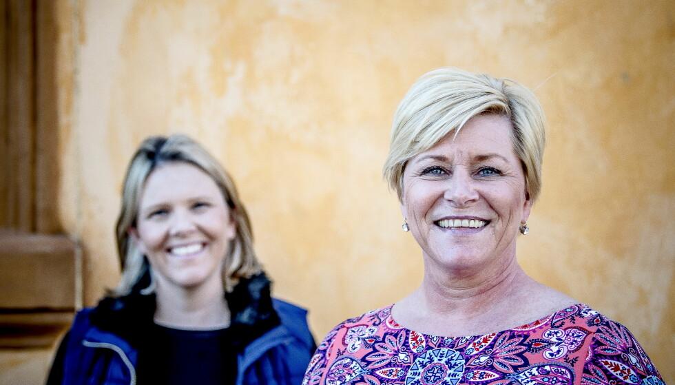 Siv Jensen og Sylvi Listhaug svarer Stålsett. Foto: Thomas Rasmus Skaug NTB Scanpix