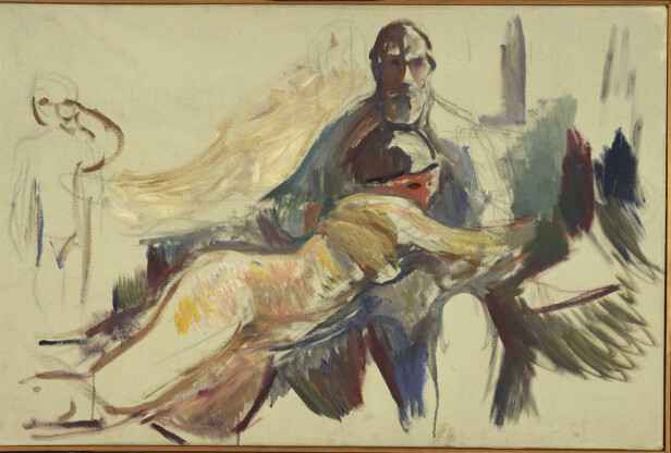 Old Man with Naked Woman on his Lap, 1913-15