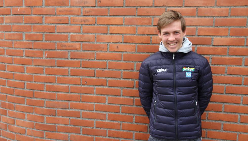 SMILET TILBAKE: Kristoffer Halvorsen innrømmer at han fikk seg en knekk etter flere velt og sykdom som ikke slapp taket i starten av sesongen. FOTO: Jarle Fredagsvik, procycling.no
