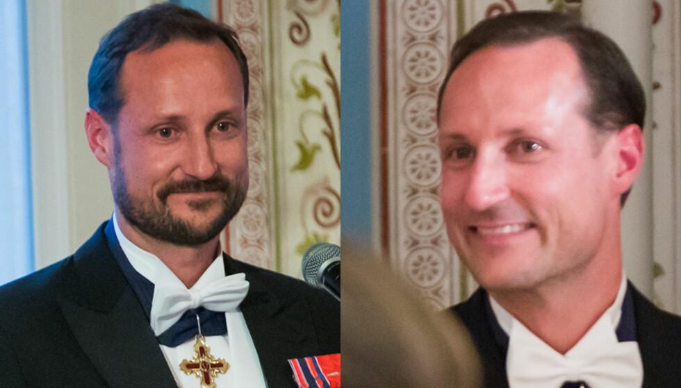 TOK SKJEGGET: Først holdt kronprins Haakon tale til sine foreldre med skjegg. Noen få timer senere var skjegget orte. Foto: Heiko Junge / NTB scanpix