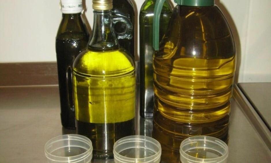SJEKKET AV MATTILSYNET: Seks av 14 testede olivenoljer holdt ikke mål, viser en fersk undersøkelse. Foto: Mattilsynet
