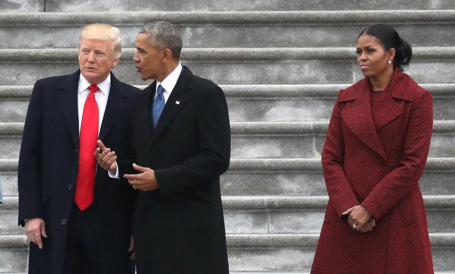 MISFORNØYD: Michelle Obama er på ingen måte fornøyd med at Trump-administrasjonen nå tilsynelatende reverserer reguleringer som hun kjempet for å få på plass. Foto: Rob Carr / Reuters / NTB Scanpix