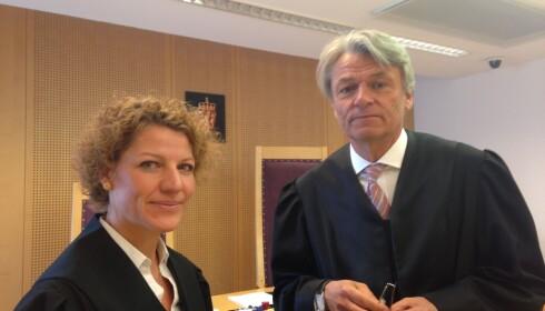 I RETTEN: Aktor, politiadvokat Nora Eek-Nielsen, og forsvarer, advokat Lars Leversen. Foto: Øystein Andersen / Dagbladet