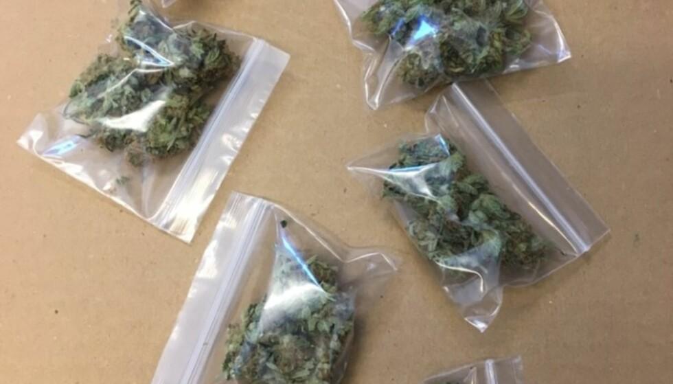 FLERE BESLAG: I forbindelse med en målrettet innsats mot omsetning av ulovlige rusmidler til ungdom og russ har Bergen-politiet nylig gjennomført flere planlagte og målrettede tilslag. De har gjort flere beslag - blant annet av marihuana (bildet): Foto: Vest politidistrikt.