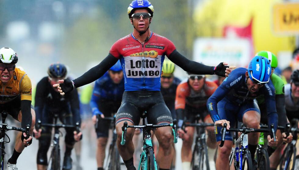 ANDREPLASS: Kristoffer Halvorsen måtte gi tapt for den nederlandske mesteren på 2. etappe av Tour of Norway. FOTO: Mario Stehl.