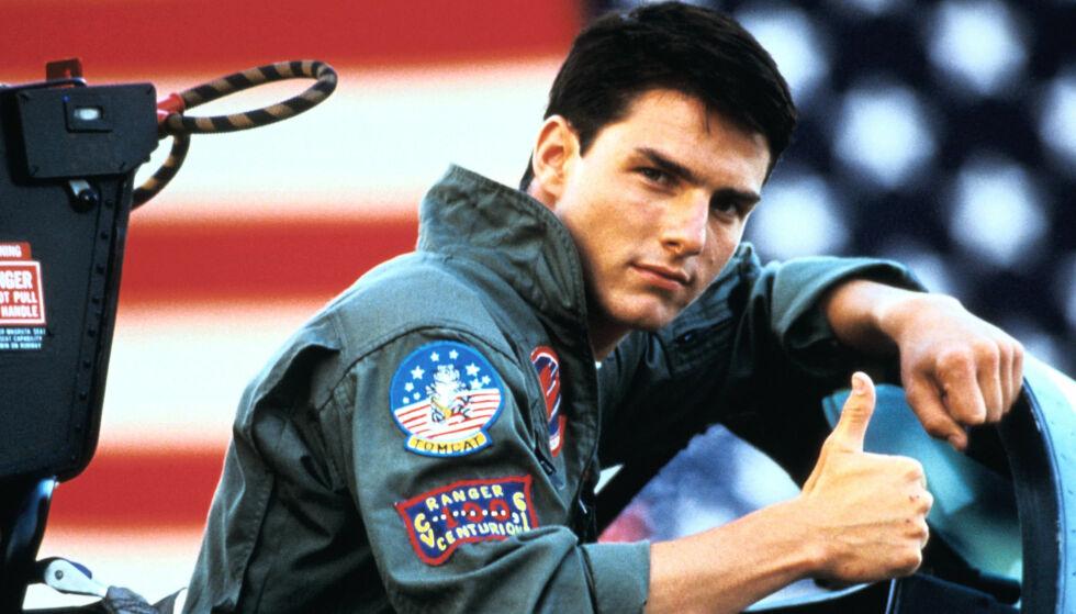 KLAR FOR OPPFØLGER: Tom Cruise ble superstjerne gjennom hovedrollen som Maverick i «Top Gun» fra 1986. 31 år seinere bekrefter Cruise at han er klar for å spille inn oppfølgeren.