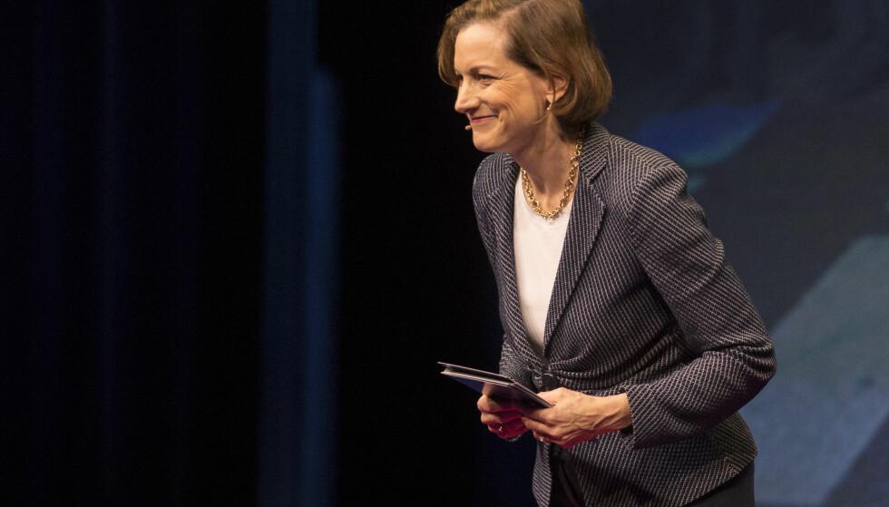 KRISETIDER: Anne Applebaum besøkte Oslo Freedom Forum denne uka og sier hun aldri har levd i en mer dramatisk tid. Hun mener partisystemene må reformeres for å løse en demokratisk krise. Foto: Håkon Mosvold Larsen / NTB scanpix
