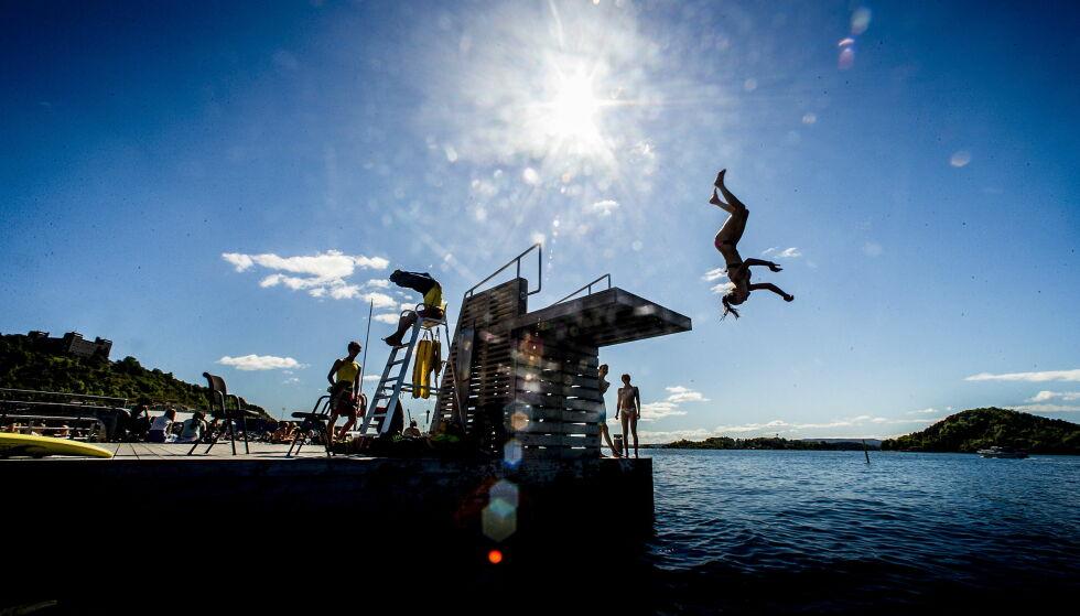 OPP MOT 30 GRADER: Oslo og store deler av Østlandet kan kjenne på temperaturer helt opp mot 30 grader i helga, ifølge meteorologene. Foto: Bjørn Langsem / Dagbladet
