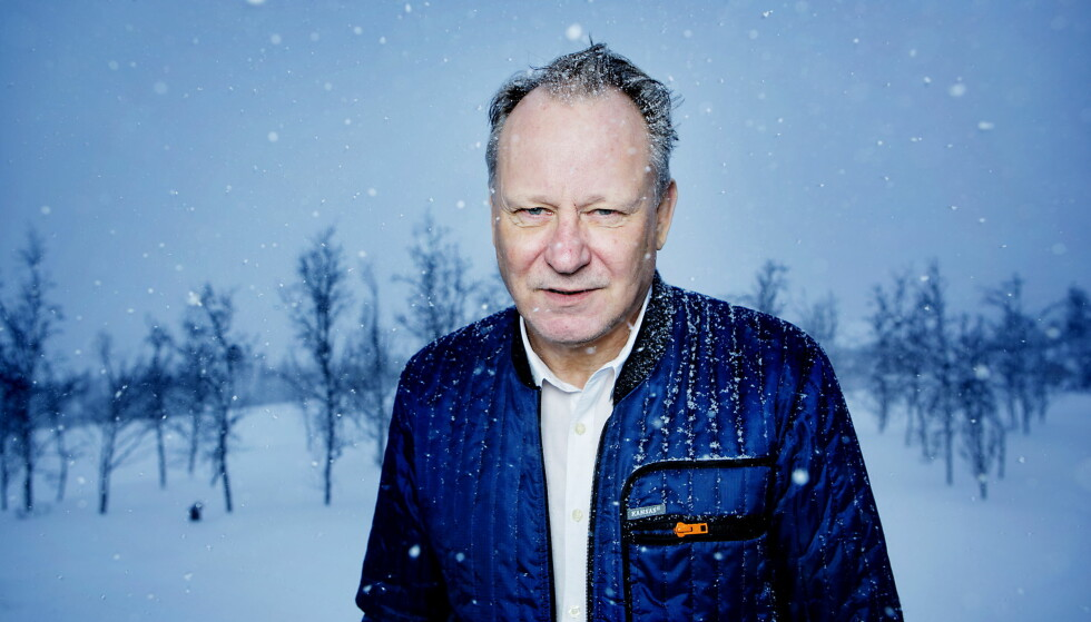 <strong>HAR ROLLE:</strong> Svenske Stellan Skarsgård ble i dag bekreftet til Hans Petter Molands storfilm «Ut og stjæle hester». Foto: Christian Roth Christensen / Dagbladet