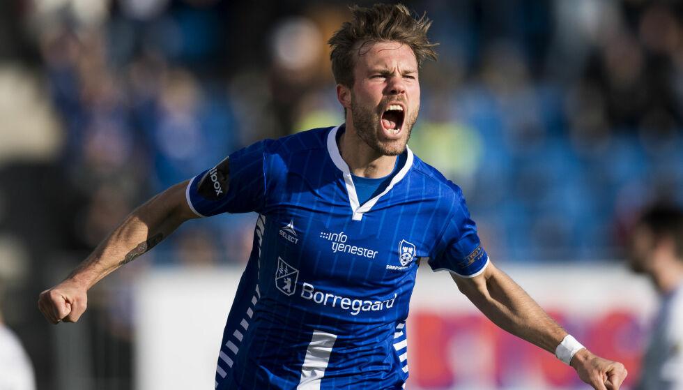 SCORET IGJEN: Patrick Mortensen satte sitt sjette for sesongen mot Molde på hjemmebane i den tolvte runden. Her etter å ha scoret mot Kristiansund tidligere i år. Foto: Jon Olav Nesvold / NTB scanpix