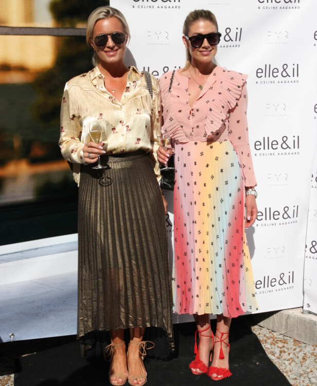 ANKOM SAMMEN: Tone Damli og Hedda Skoug var blant dem som deltok på Celine Aagaards lansering. Foto: Julie Solberg
