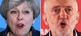 Sentrum i britisk politikk er radert ut. Fløyene står igjen