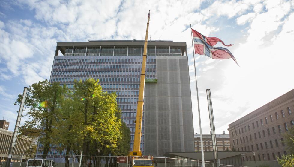 FLERTALL: Et stortingsflertall er for at det nye regjeringskvartalet skal bygges i tre. Foto: Torstein Bøe / NTB scanpix