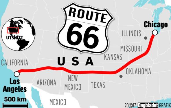 Verdens heftigste roadtrip er over 90 år. Nå trenger Route 66 hjelp