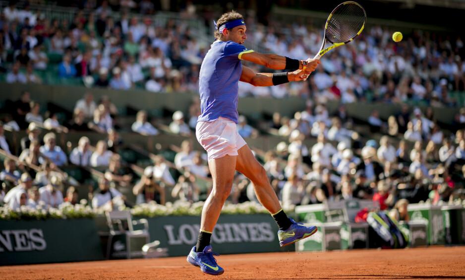 I STORFORM: Rafael Nadal har imponert voldsomt under French Open. Foto: NTB Scanpix