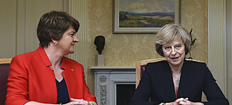 Dette er partiet som skal redde Theresa May: Benekter klimaforandringene og er mot abort og homoekteskap