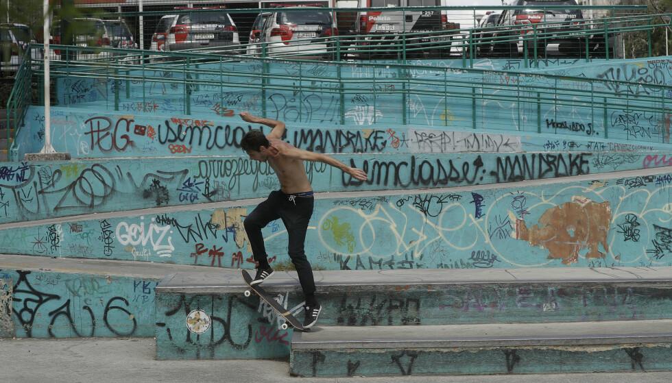 NY ØVELSE: Skateboard er en av femten nye OL-øvelser. Foto: NTB Scanpix
