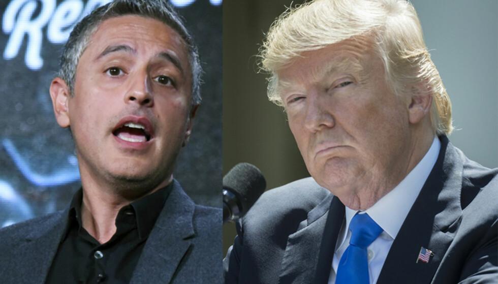 SPARKET: CNN-programleder Reza Aslan, som har hatt dokumentarprogrammet «Believer», får sparken fra den amerikanske kanalen etter sine kommentarer om USAs president Donald Trump. Foto: Richard Shotwell/Invision/AP/NTB Scanpix