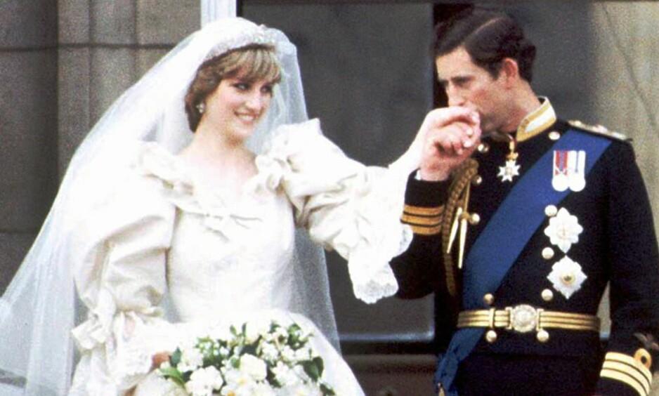 NYGIFTE: Diana og Charles så svært forelskede ut på bryllupsdagen sin i 1981. I nye opptak kommer det fram at forholdet kanskje ikke var så rosenrødt som først antatt. Foto: NTB scanpix