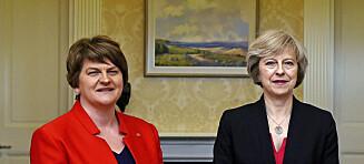 May og De konservative inngår rammeavtale med nord-irsk unionistparti