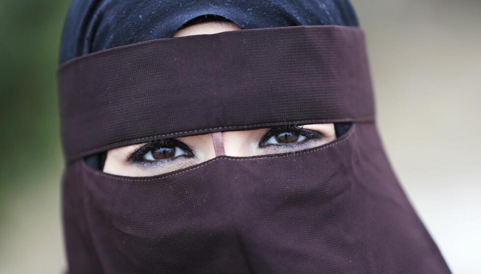 FORBUD: Danmark innførte i dag forbud mot å bære nikab og burka. Forbudet trer i kraft fra 1. august. Illustrasjonsfoto: Lise Åserud / NTB scanpix