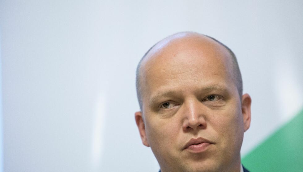 KRITISK: Partileder Trygve Slagsvold Vedum i Senterpartiet er kritisk til utviklinga i politiet. Foto: Tore Meek / NTB scanpix