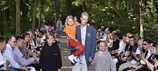Den norske modellen gjorde comeback med barna på Balenciaga-visning