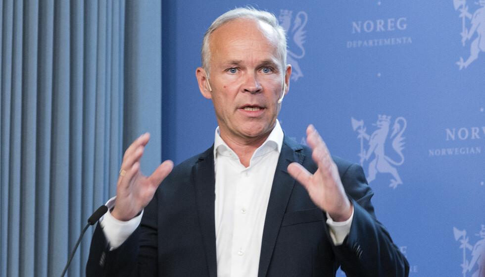 STATSRÅD: Ansvarlig statsråd, Kommunal- og moderniseringsminister Jan Tore Sanner (H). Foto: Gorm Kallestad / NTB scanpix