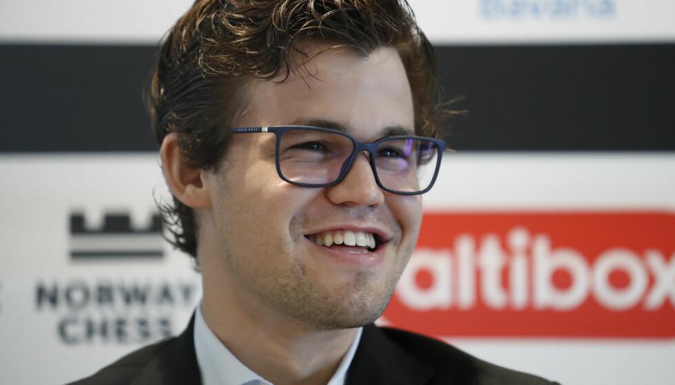 I FORM: Magnus Carlsen fortsatte med en ny, stor dag i Champion Showdown. Foto: Torstein Bøe / NTB scanpix