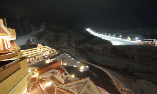 UVANT LUKSUS: Anlegget i Masik ble bygget på rekordtid, og holder uvanlig høy standard til å ligge i Nord-Korea. FOTO: AFP/KNCA