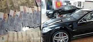 Store internasjonale kriminelle nettverk avslørt: Store mengder penger, gull og luksusbiler funnet
