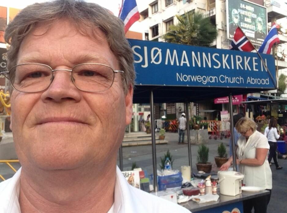 ERFAREN: Diakon i Sjømannskirken, Hans Kristian Havgar, har 20 års erfaring med sosialsaker på ulike reisemål. Han har sett foreldre fulle sammen med barn. Foto: Privat