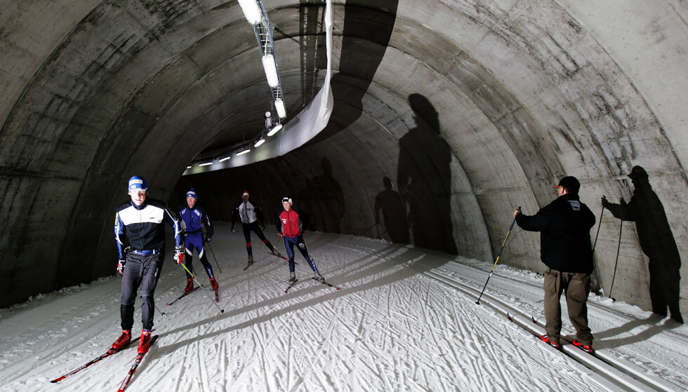 TUNNEL-SKI: I Torsby kan du gå i skitunnelen hele sommeren: Foto: NTB Scanpix