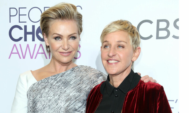 FANT LYKKEN: Portia de Rossi og Ellen DeGeneres giftet seg i 2008 etter å ha vært sammen i fire år. Her avbildet tidligere i år. Foto: Rex / NTB scanpix