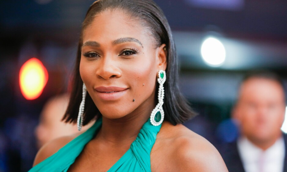 <strong>OVERRASKET:</strong> Serena Williams venter sitt første barn, noe hun fikk vite på et upassende tidspunkt. Foto: Rex / NTB scanpix