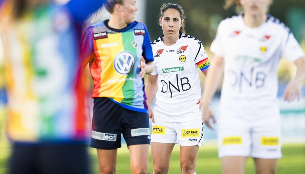 TABELLTOPP: Lillestrøms kaptein Ingrid Moe Wold vant mot Stabæk i går. Foto: Jon Olav Nesvold / NTB scanpix