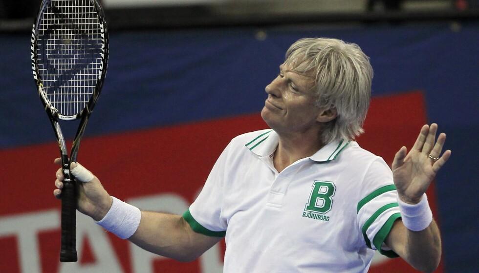 LEGENDE: Svenske Björn Borg var en periode tennisens aller største stjerne. Her i et lite comeback i 2010. Foto: AP Photo/Charles Krupa